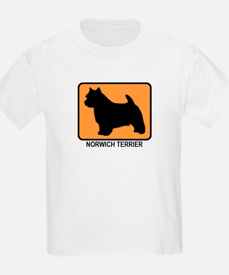 Norwich Terrier (simple-orang T-Shirt