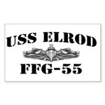 USS ELROD Sticker (Rectangle)