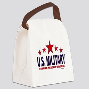 U.S. Military Strong Against Wron Canvas Lunch Bag