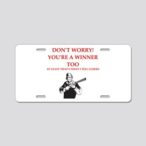 trapshooting Aluminum License Plate