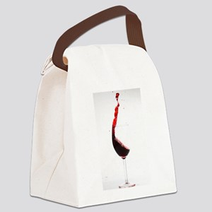 red wine minimalist photo Canvas Lunch Bag