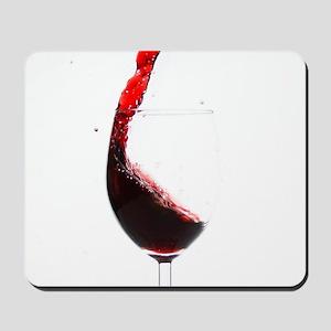 red wine minimalist photo Mousepad
