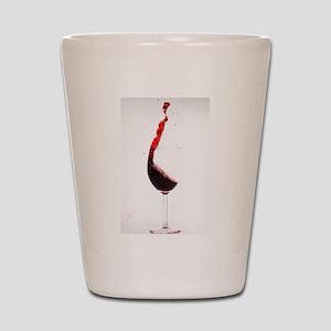 red wine minimalist photo Shot Glass