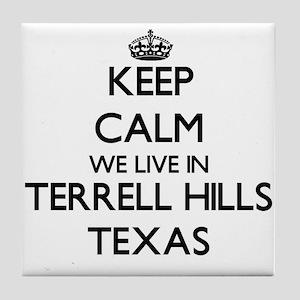 Keep calm we live in Terrell Hills Te Tile Coaster