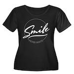 Smile Co Women's Scoop Neck Dark Plus Size T-S