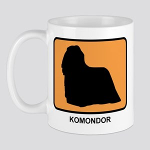 Komondor (simple-orange) Mug