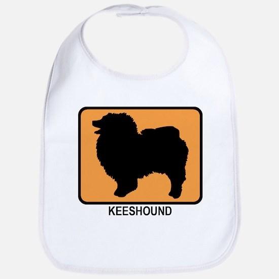 Keeshound (simple-orange) Bib