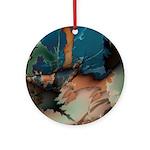 Fantastic Fractals Round Porcelain Pendant