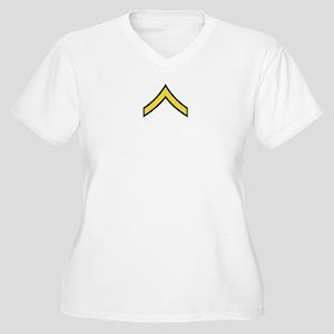 "Army E2 ""Class A's"" Women's Plus Size V-Neck T-Shi"