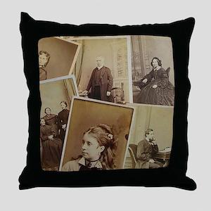 antique vintage photos Throw Pillow