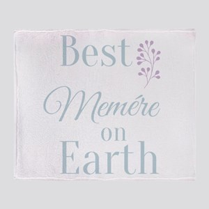 Best Memere on Earth Throw Blanket