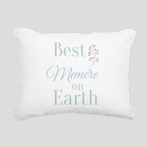 Best Memere on Earth Rectangular Canvas Pillow