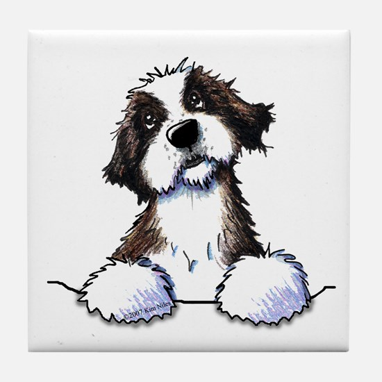 Pocket St. Bernard II Tile Coaster