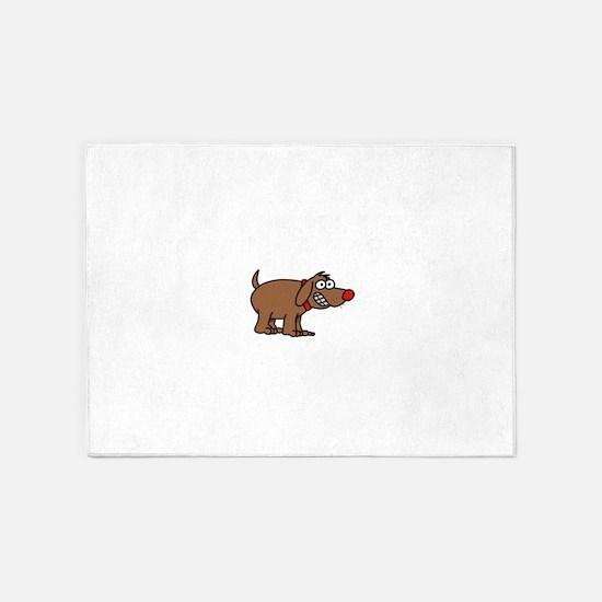 Brown Dog 5'x7'Area Rug