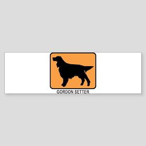 Gordon Setter (simple-orange) Bumper Sticker