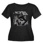 MCK Siberians Women's Plus Size Scoop Neck Dark T-