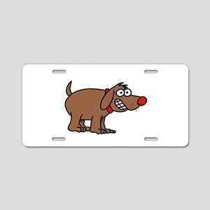 Brown Dog Aluminum License Plate