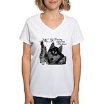 MCK Siberians Women's V-Neck T-Shirt