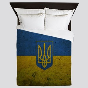 Ukrainian Flag Queen Duvet