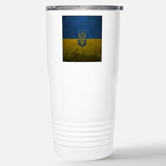 Ukrainian Flag Travel Mug