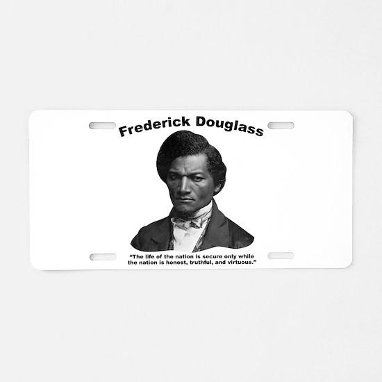 Douglass: Virtuous Aluminum License Plate