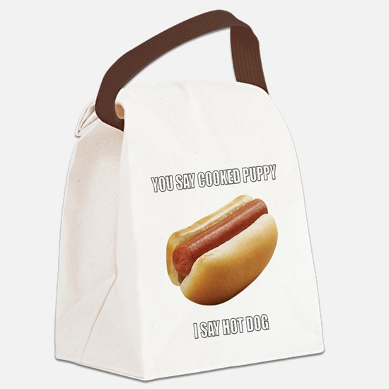 Unique Hot dogs Canvas Lunch Bag