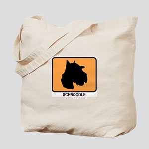 Schnoodle (simple-orange) Tote Bag
