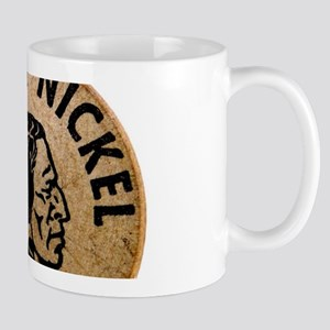 vintage wooden nickel Mugs