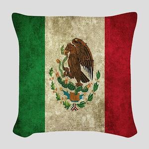 Mexican Flag Woven Throw Pillow