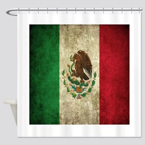 Mexican Flag Shower Curtain