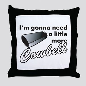 cowbell2 Throw Pillow
