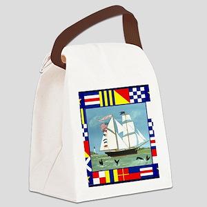 Maritime Signal Flags Canvas Lunch Bag