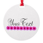Personalizable Pink Flowers Ornament