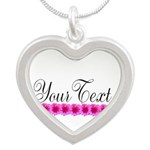 Personalizable Pink Flowers Necklaces