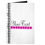 Personalizable Pink Flowers Journal