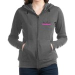 Personalizable Pink Flowers Women's Zip Hoodie