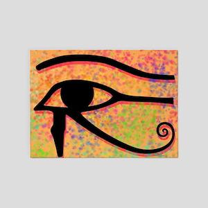 Eye Of Horus Egyptian Symbol 5'x7'Area Rug
