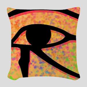 Eye Of Horus Egyptian Symbol Woven Throw Pillow