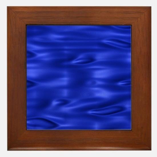 Blue Waves Framed Tile