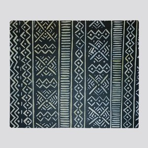 Mud Cloth Inspired Throw Blanket