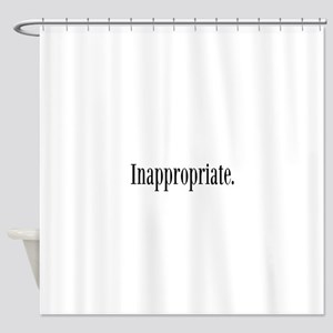 Inappropriate Shower Curtain