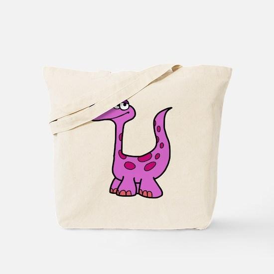 Purple Dinosaur Tote Bag