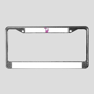 Purple Dinosaur License Plate Frame