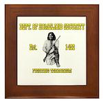 Dept. of Homeland Security Framed Tile