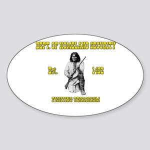 Dept. of Homeland Security Sticker (Oval)