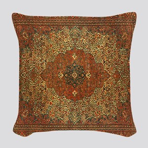 Antique Tabriz Pattern Woven Throw Pillow