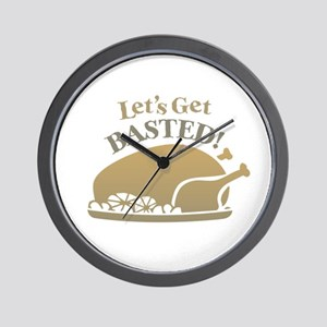 Let's Get Basted Wall Clock