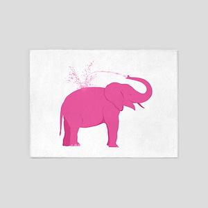 Pink Elephant 5'x7'Area Rug