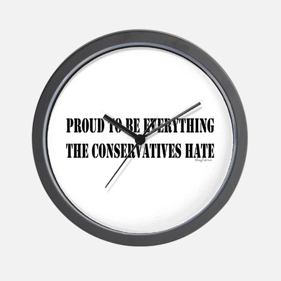 Everything Conservatives Hate Wall Clock