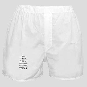 Keep calm we live in Winnie Texas Boxer Shorts